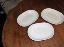 3 X ELEGANT FINE ROYAL PORCELAIN SCULPTURE BUTTER PAT / CONSERVE / JAM DISHES